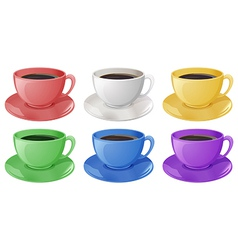 Cups with coffee vector