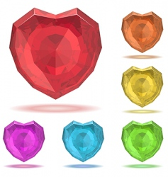 Ruby heart vector
