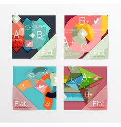 Flat design square shape infographic banner vector