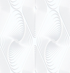 Quilling white paper swirled offset diamonds vector