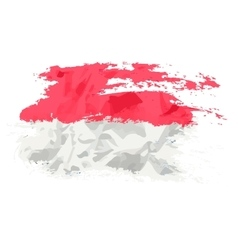 Indonesia flag painted by brush hand paints art vector