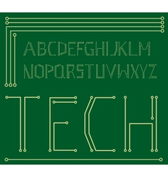 Motherboard alphabet vector