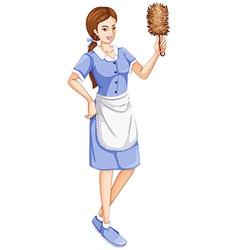 A house servant vector image