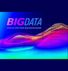 Big data colorful 3d graph vector