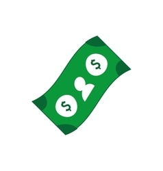 Bill money dollar icon design vector