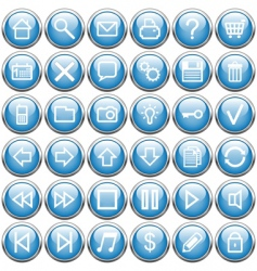 buttons blue vector image vector image