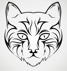 Cat face tattoo design vector