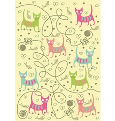 cats of different colors vector image vector image