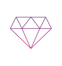 Color silhouette beauty luxury diamond gen vector
