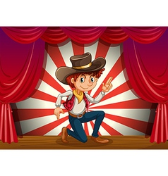 Cowboy on stage vector
