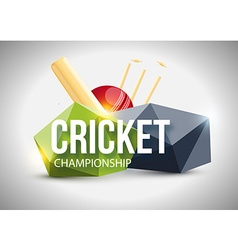 Cricket concept sport background eps 10 vector image