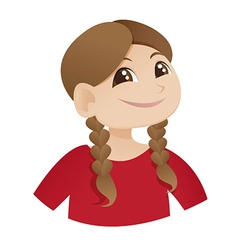 Cute smiling girl with ponytail vector