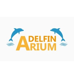 Dolphinarium logo vector image vector image