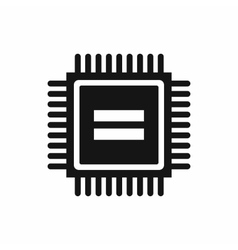Electronic circuit board icon simple style vector