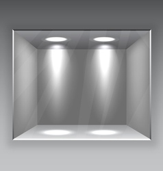 Empty store shelf vector