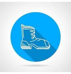 Flat line icon for hike shoe vector image
