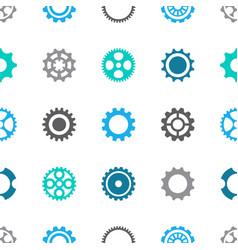 gear wheels seamless pattern vector image