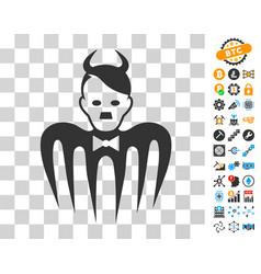 Hitler spectre devil icon with bonus vector