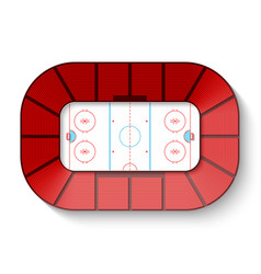 hockey arena top view vector image