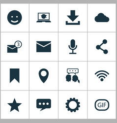 Internet icons set collection of video chat vector