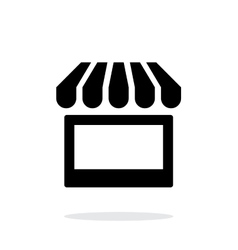 Kiosk icon on white background vector image vector image