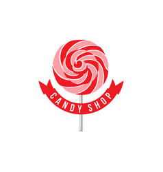 lollipop logo vector image