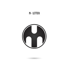 M-letter abstract logo vector