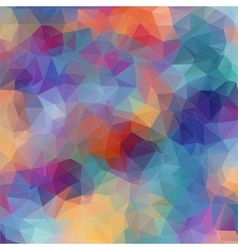 Multicolor background with triangles vector