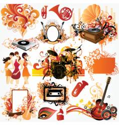 music design element set vector image vector image