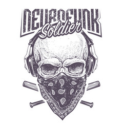 Neurofunk soldier vector