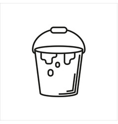 paint bucket icon on white background vector image vector image