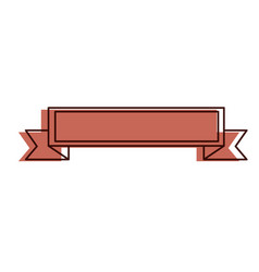 ribbon elegant frame icon vector image