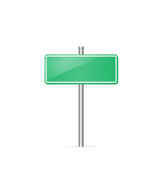 road sign blank mockup vector image vector image