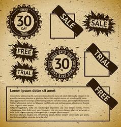 Sale vintage stamp labels vector