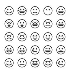 Set of black smileys vector