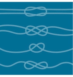 Set of marine knots vector