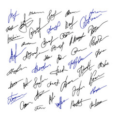 signature set of business hand drawn vector image