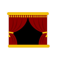 theater stage curtains vector image