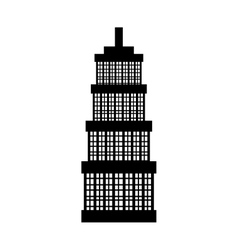Tower city building vector
