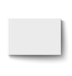 white album book cover isolated vector image vector image