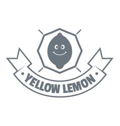 yellow lemon logo vintage style vector image