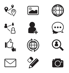 Social network icons set vector