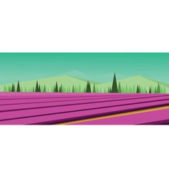 Abstract green landscape vector