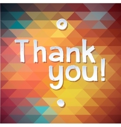 THANK YOU Lettering rewarding postcard vector image