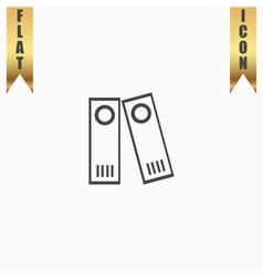 Row of binders icon vector