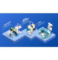 Dentistry Isometric Template vector image