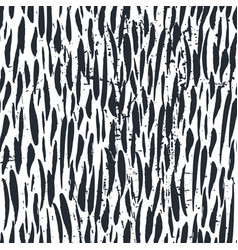 Ink hand drawn seamless pattern with brush strokes vector