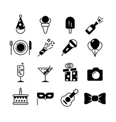party and wedding event fun icons vector image