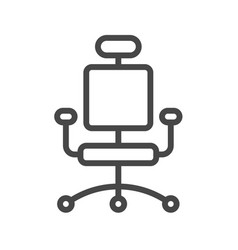 Office chair thin line icon vector