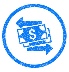 Money exchange rounded grainy icon vector